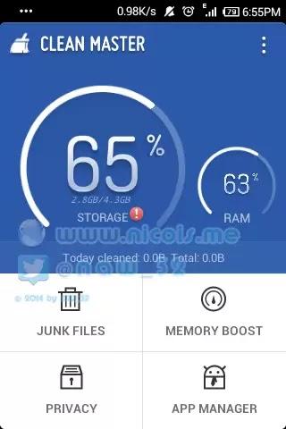 menyimpan file apk dengan app clean master
