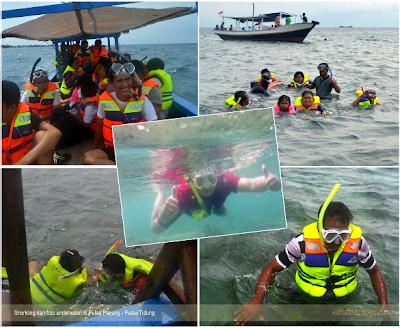 snorkling dan foto underwater di pulau tidung
