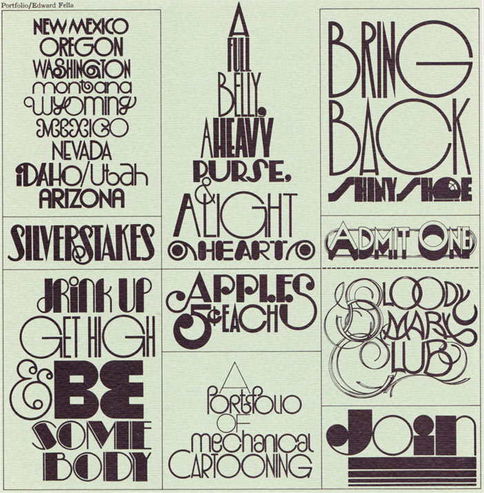 ed fella reshaping contemporary typography and graphic design illustration pages