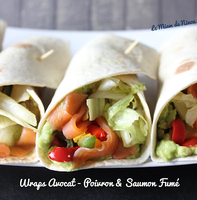 Illustration Wraps Avocat - Poivron & Saumon Fumé