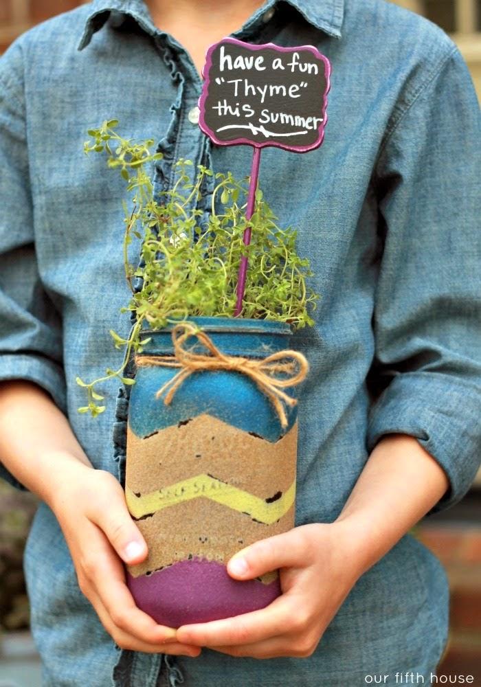 gift idea - thyme in a jar