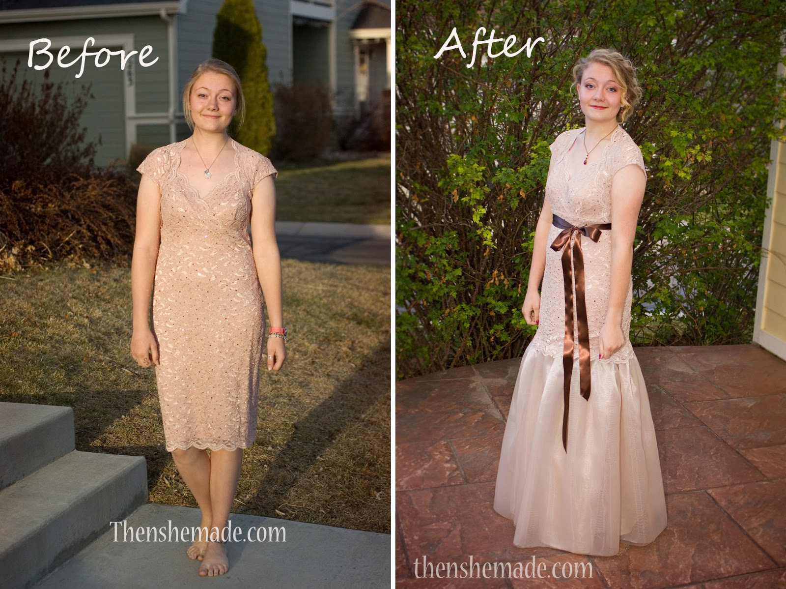 Then she made...: Prom Dress Upgarde