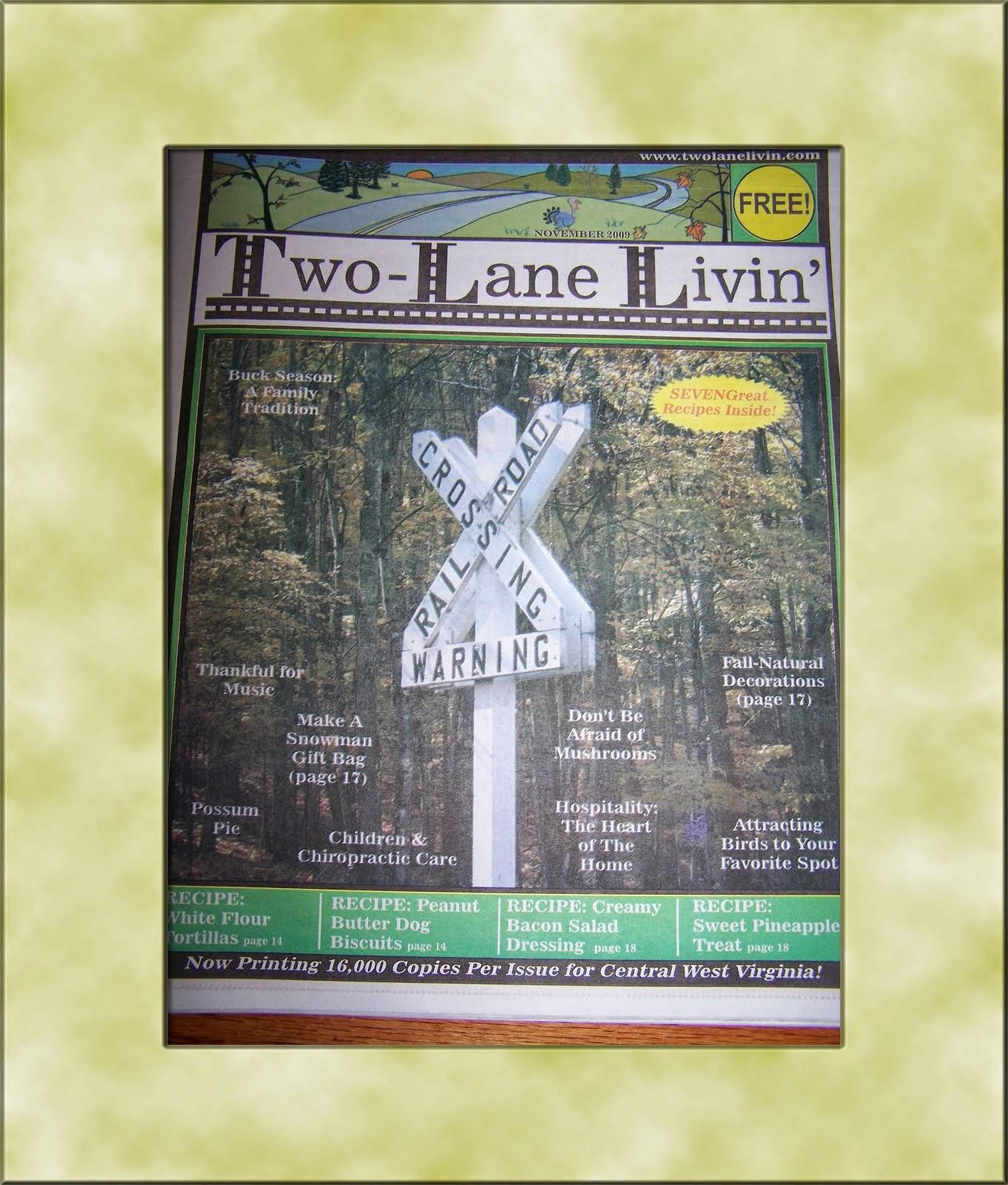 Columnist For Two-Lane Livin' Magazine