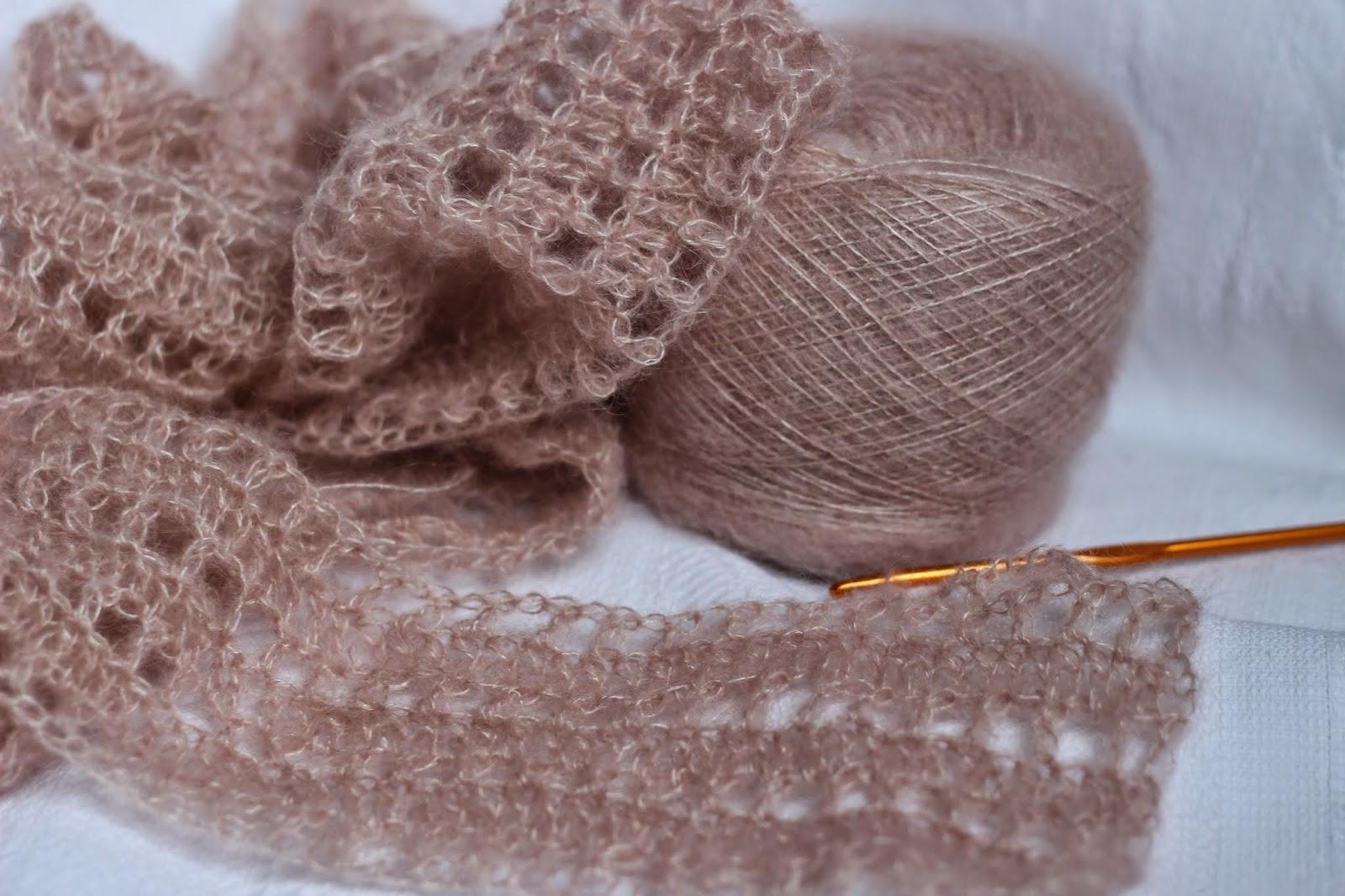 Изучаем красивые ажурные схемы вязания на спицах из мохера 90