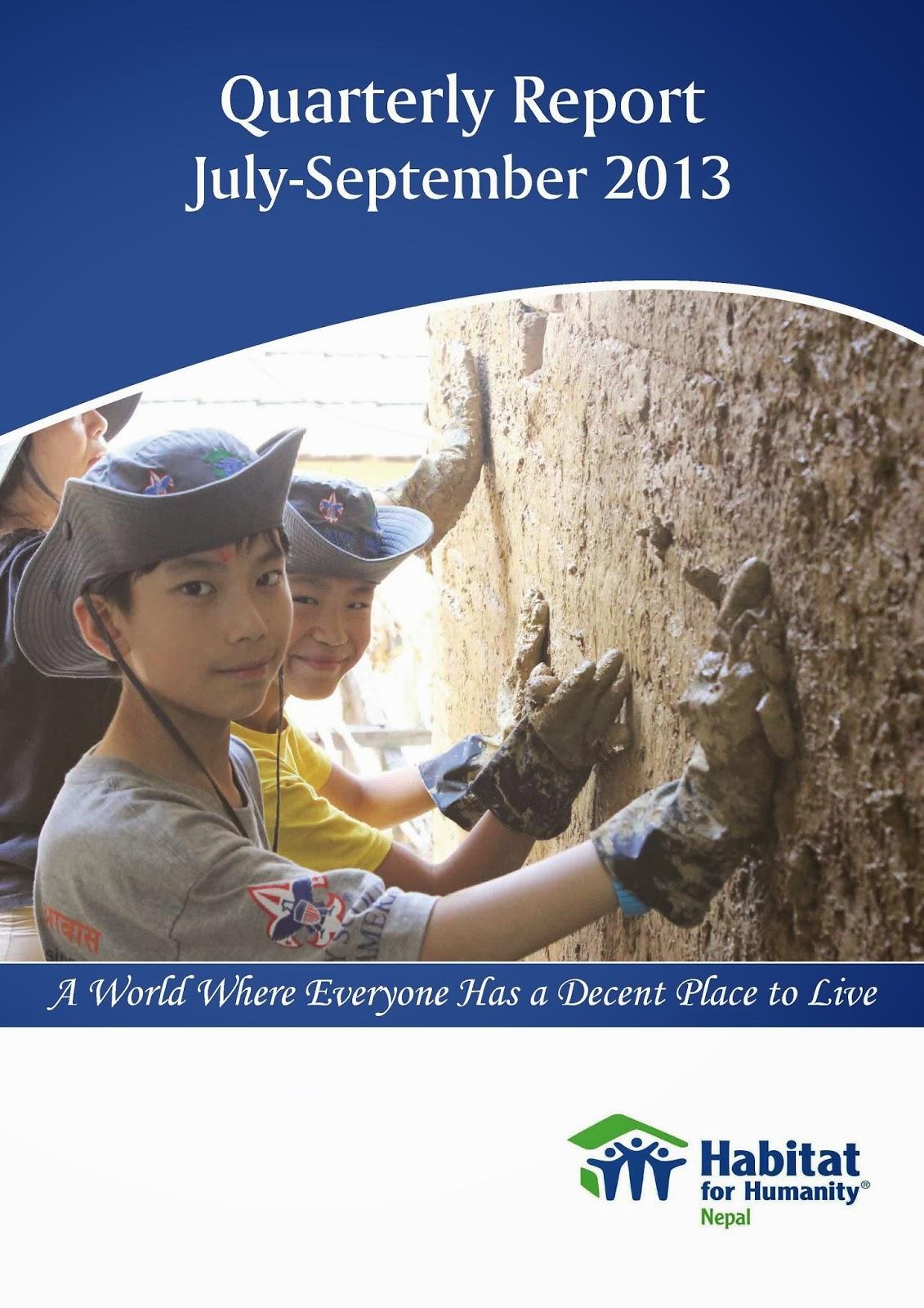 Quarterly Report July-September 2013