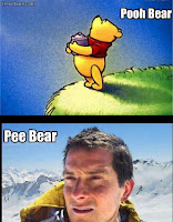bear grylls drinking own urine meme