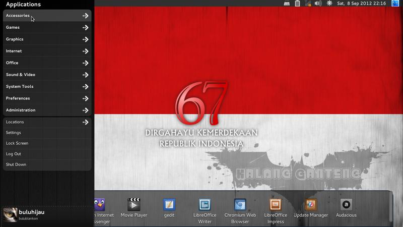 Screenshot BlankOn Linux