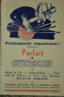 Página com anúncio da dentadura PARFAIT