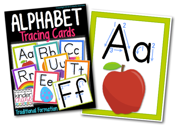 Alphabet Tracing Cards….supplemental resource for letter recognition