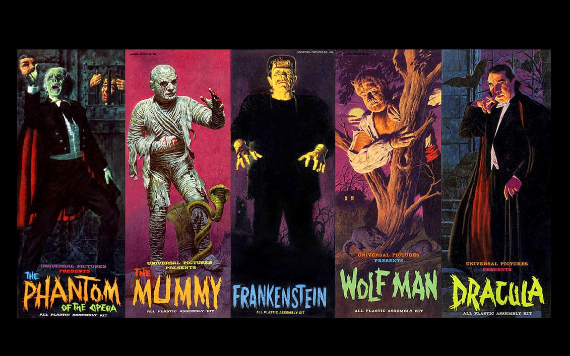 Phantom of the Opera - Mummy - Frankenstein - Wolf Man - Dracula