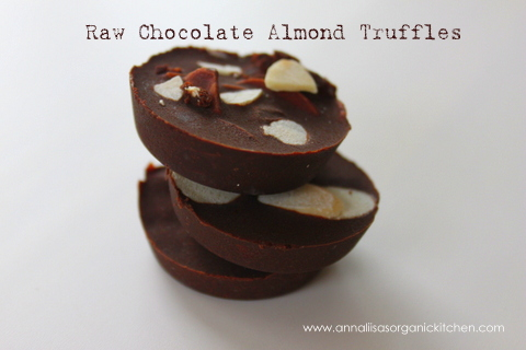 raw chocolate truffles with almonds and apricots