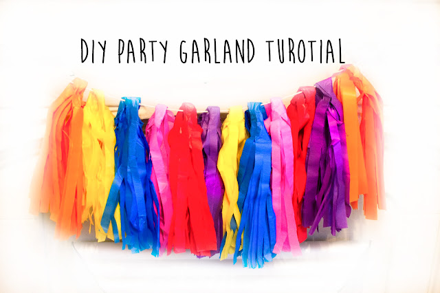 Diy party garland tutorial