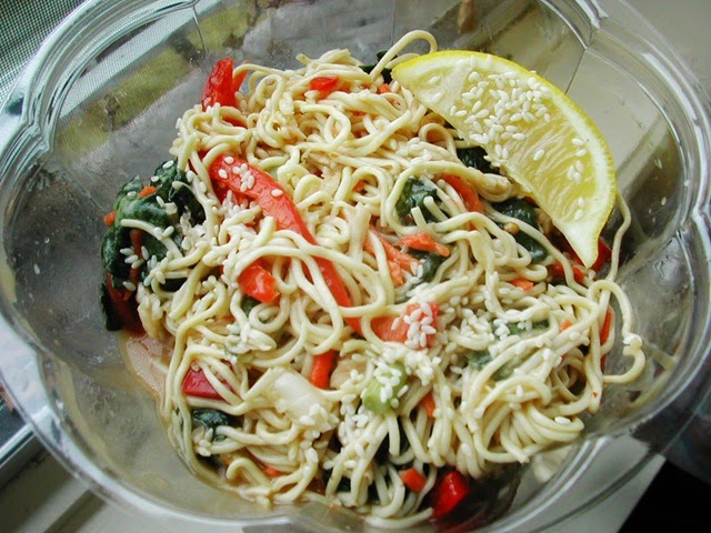... Frugal Gluten Free Recipe: Rice Noodle Salad with Sesame Dressing