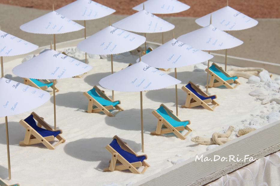 Tableau Matrimonio Spiaggia : Ma do ri fa nozze a tema spiaggia