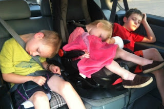 kids sleeping in the car photos