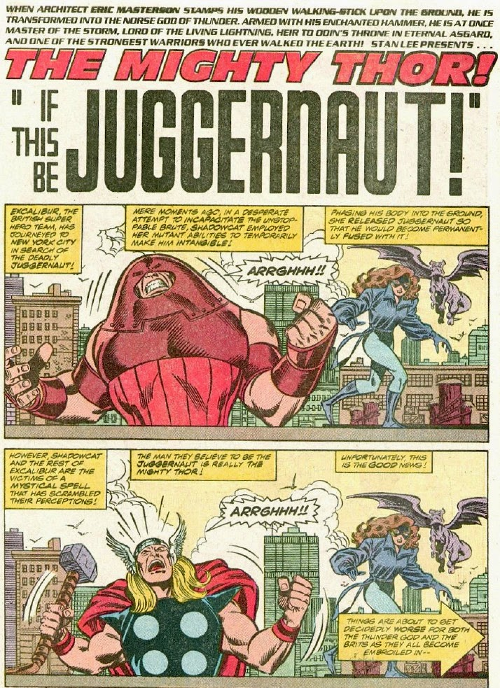 Thor 428 splash Juggernaut Shadowcat