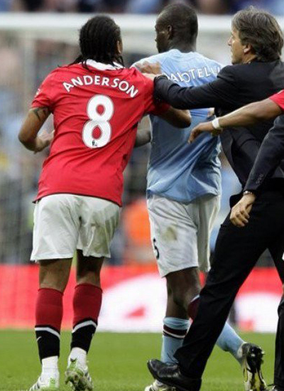 manchester united FA Cup semifinal anderson v balotelli