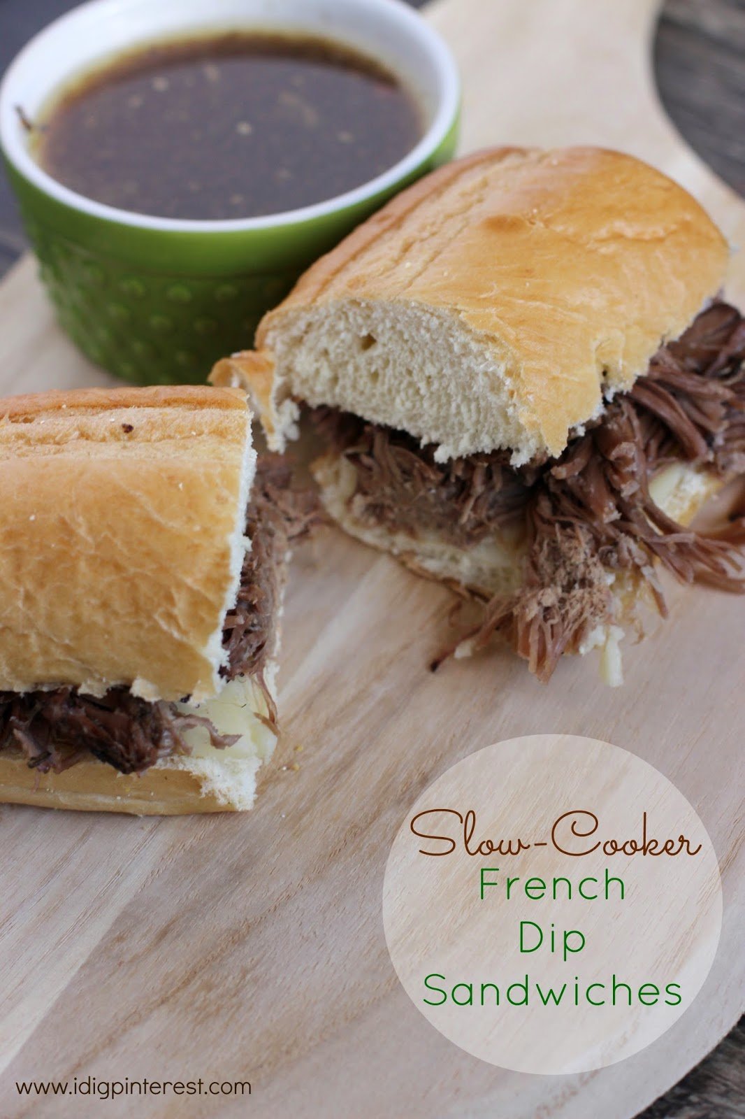 I Dig Pinterest: Slow Cooker French Dip Sandwiches