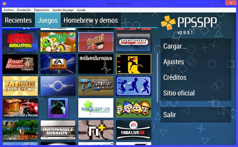 emulador psp con juegos