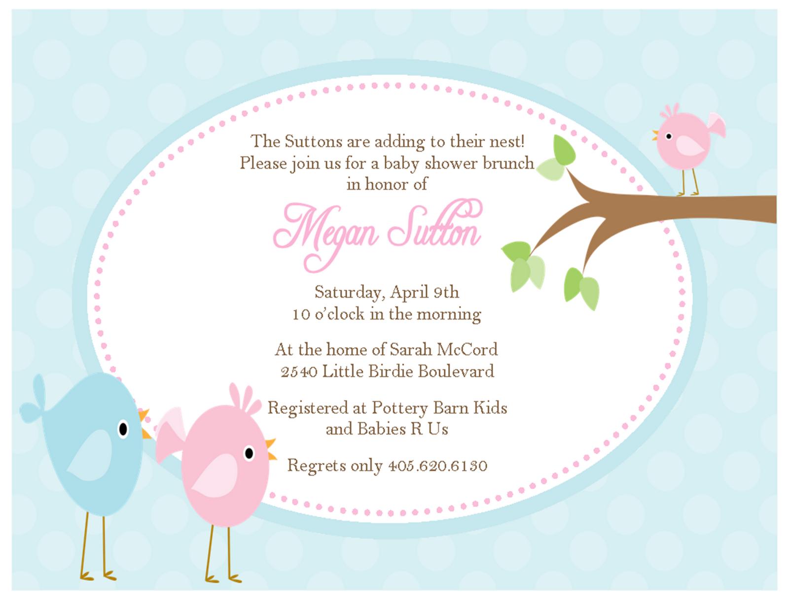Little Birdie Baby Shower Invitations Sweet Peach Paperie