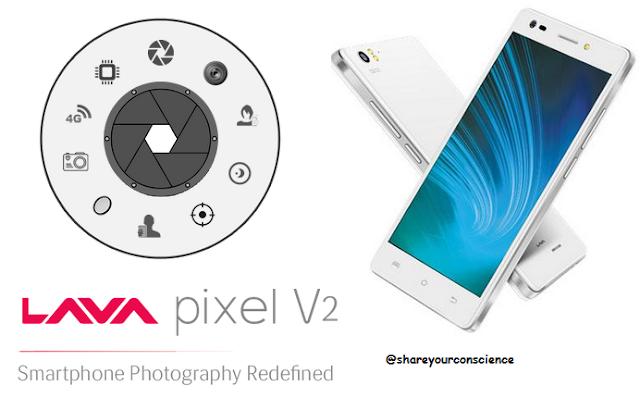 Lava Pixel V2 4G Smartphone