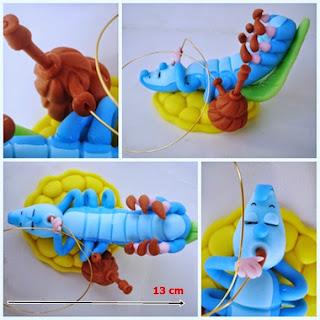 lagarta azul de biscuit