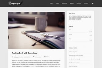 Feather SEO Blogger Template