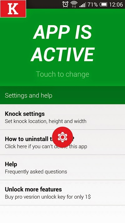 KNOCK CODE no root android