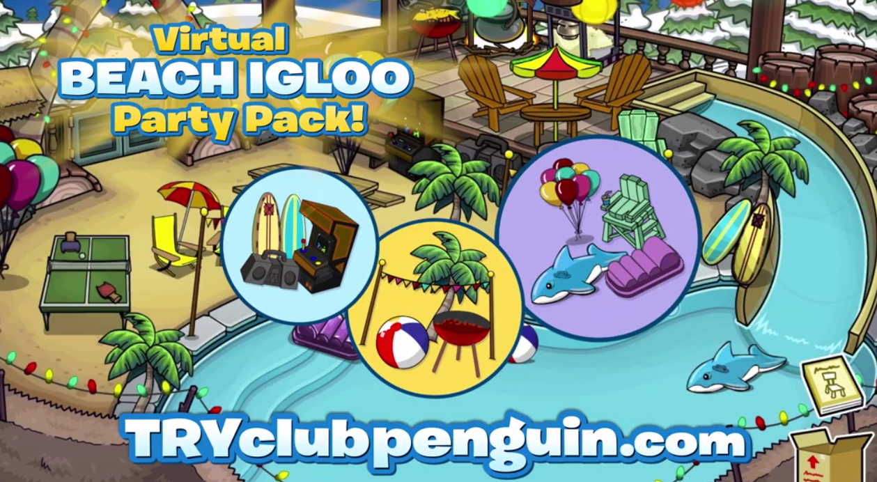 Free Club Penguin 30-Day Membership Beach Igloo