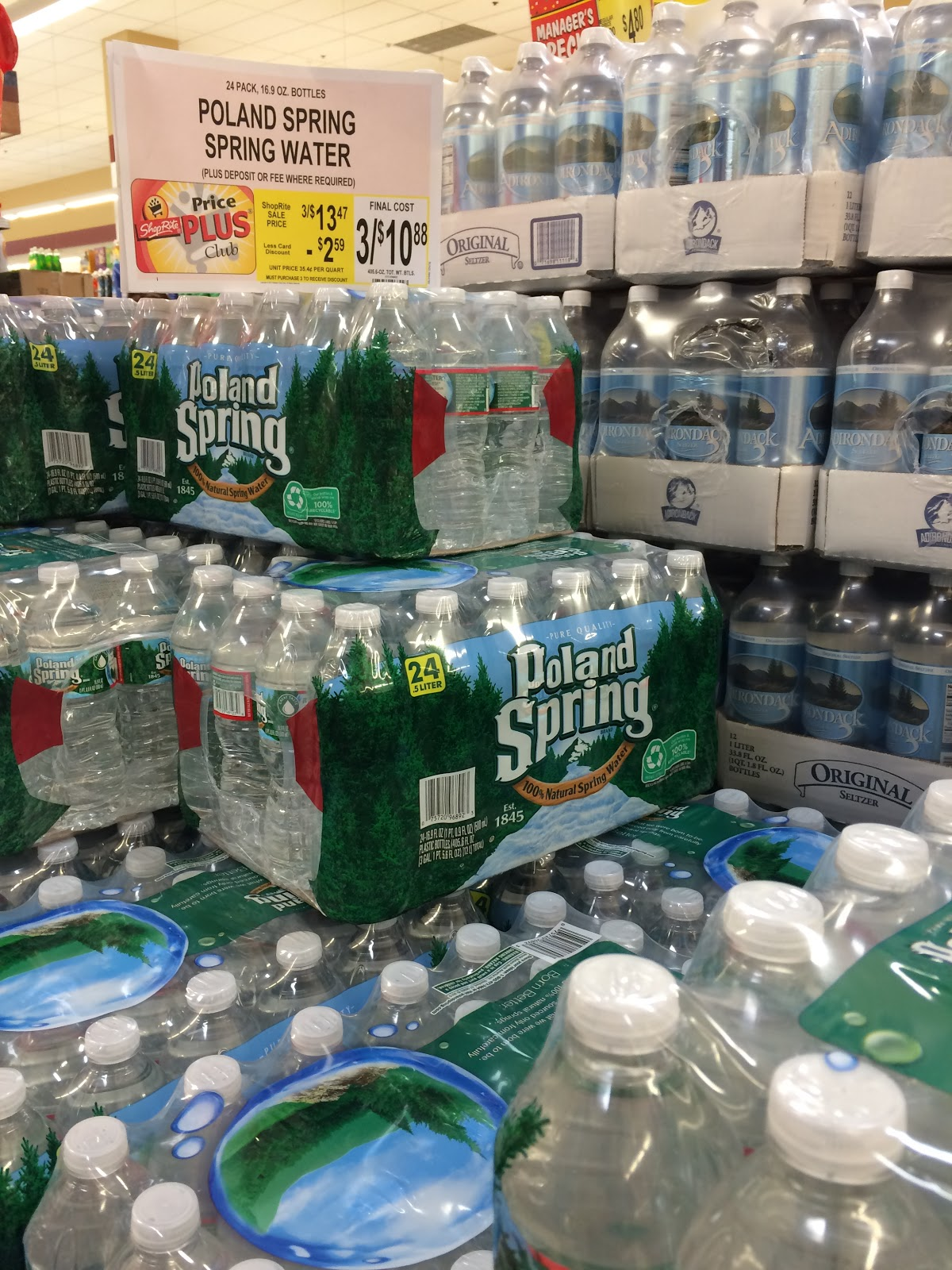 Shoprite Can Can Sale 2015 - Poland spring water on sale at shoprite in october 2015