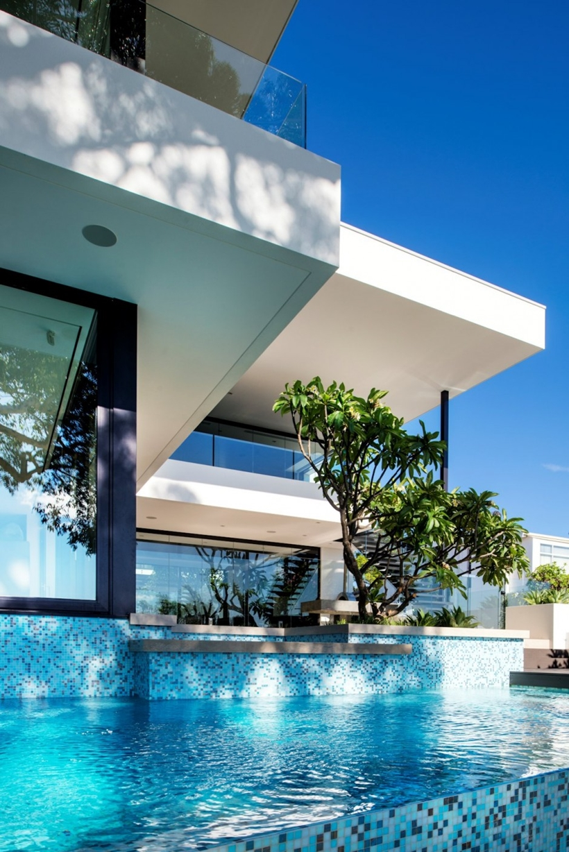 Modern Houses With Pool World Of Architecture House With Contemporary Interior Design By