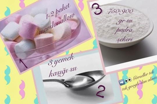 Marsmallowdan şeker hamuru