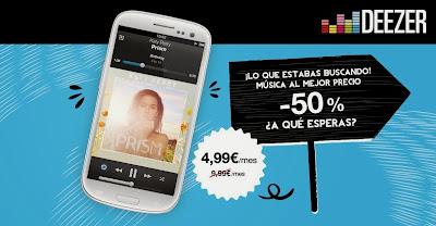 Deezer foto promo 4,99 Euros