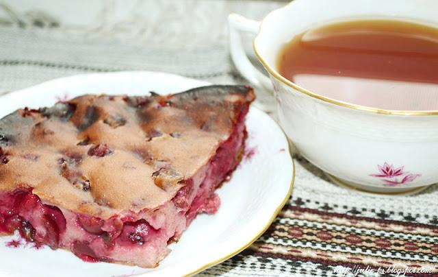 диетический пирог с вишней, вишневый пирог, рецепт пирога с вишней, рецепт вишневого пирога