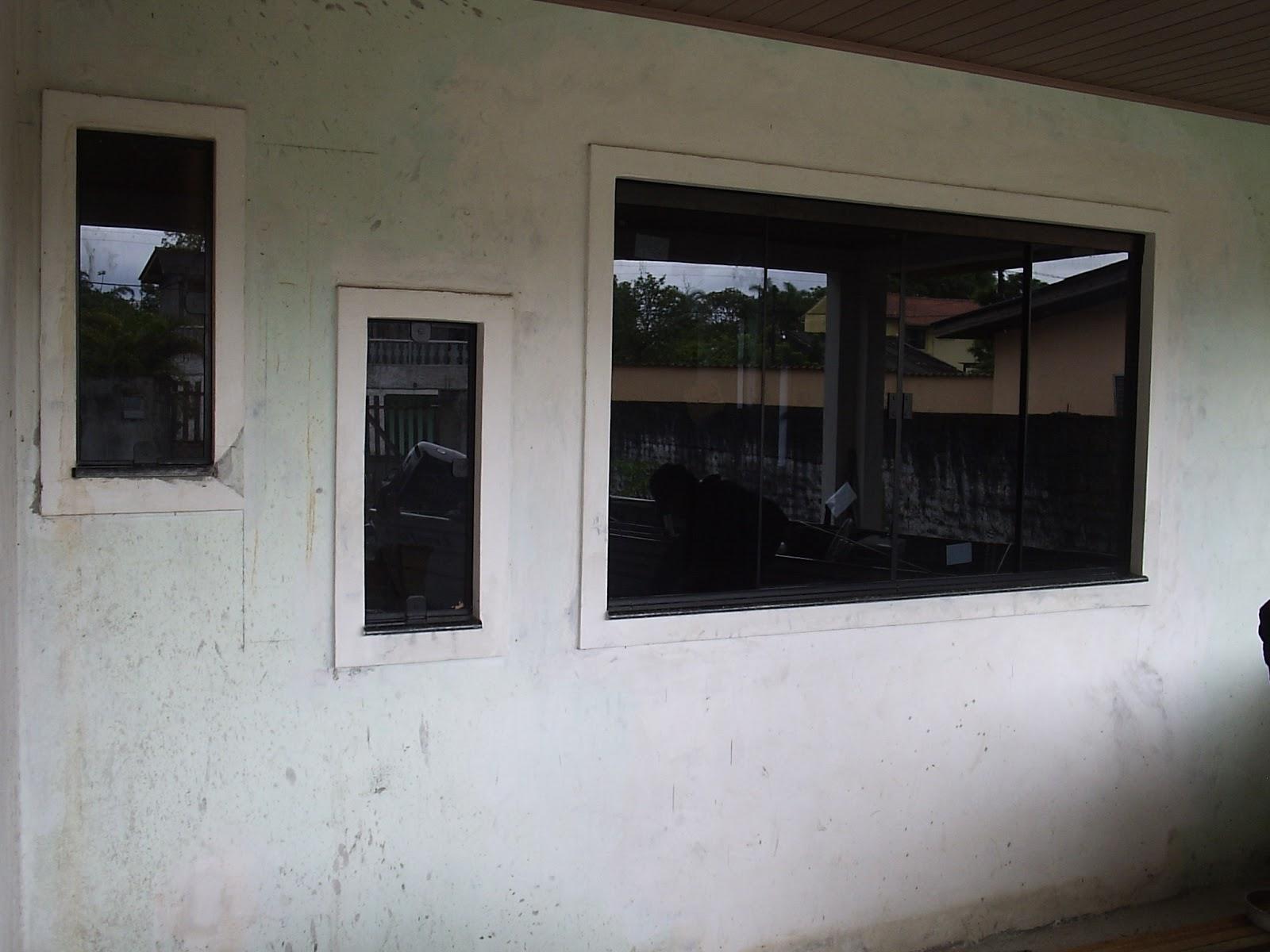 #585244 janela 4 folhas em vidro temperado 8mm fumê maxi ar em vidro  132 Janelas De Vidro Fume