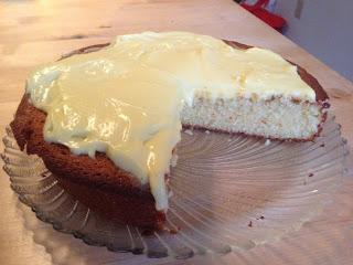 52 Cakes: Cake #11 - Lemon and Almond Streamliner Cake