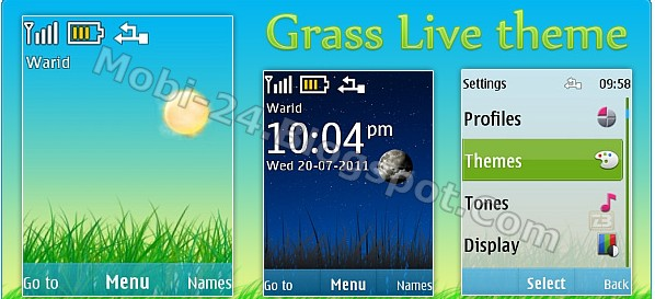 Grass Live theme for Nokia S40 (240x320)