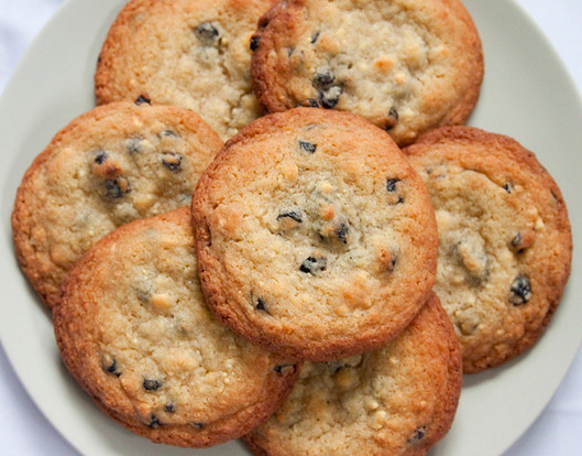 Honey & Butter: Blueberry + White Chocolate Chip Cookies
