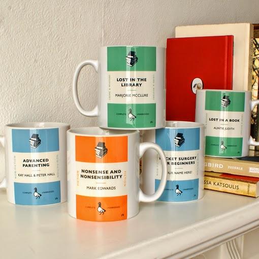 Penguin Book Cover Mugs : Libros que no existen