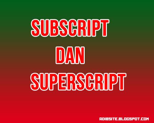 Subscript