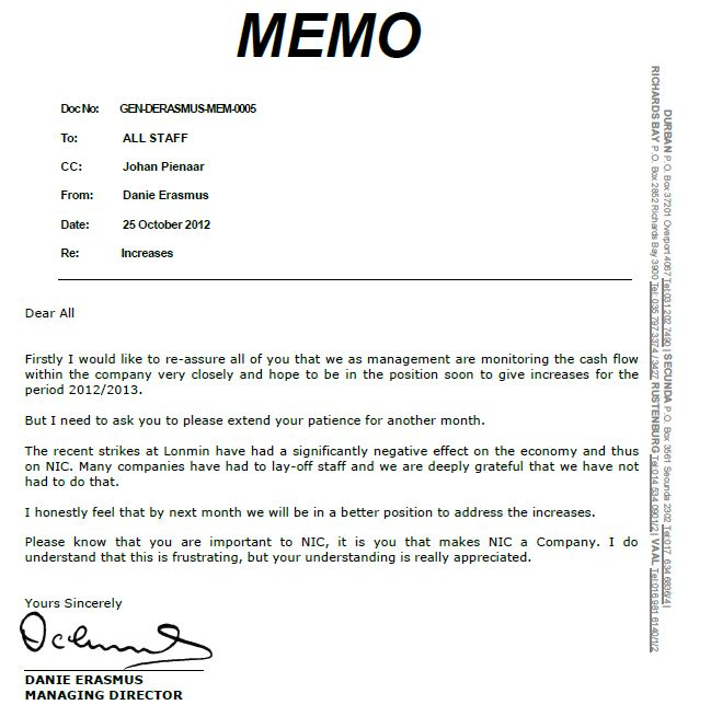 engineering memo format - Mersn.proforum.co