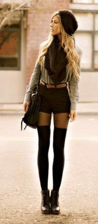 5 different ways to wear over the knee socks