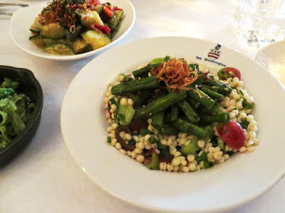 Spicy Green Beans on Israeli couscous salad at City Grocery, Oxford, MS