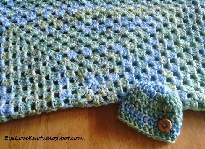 Free Crochet Pattern For Granny Square Baby Blanket : EyeLoveKnots: Watercolor Lily Pads Chunky Granny Square ...