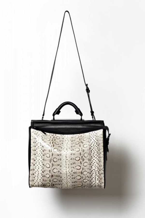 3.1 Phillip Lim white snake print bag