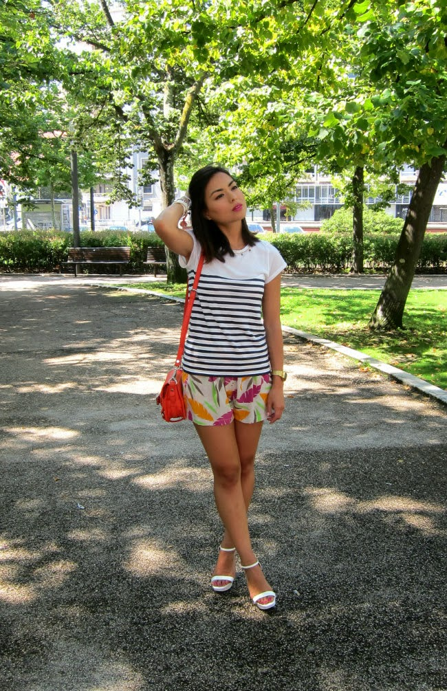 daniela pires, street style, fashion blogger, shorts, summer looks, mix and match, trends 2013, fashionista