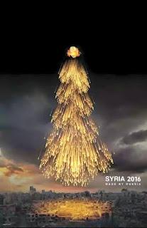 bom cluster seperti pohon natal, serangan kafir rusia di bumi suriah