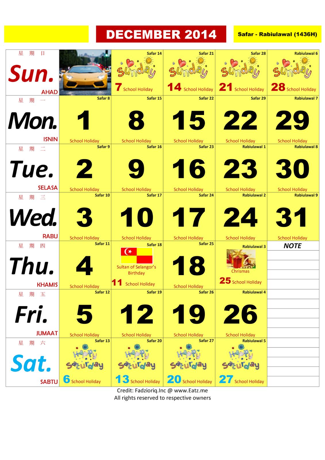Calendar Alam : Pencinta alam pemakan yang hebat penyayang pada keluarga