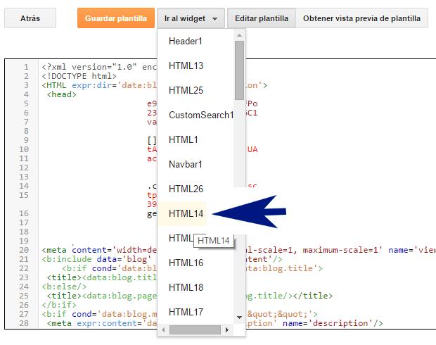 Cómo activar o desactivar los widgets de Blogger para que aparezcan en móviles