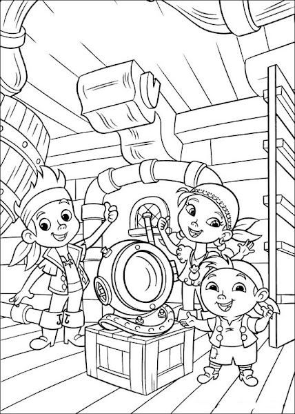 Jake And The Neverland Pirates Coloring Pages A4